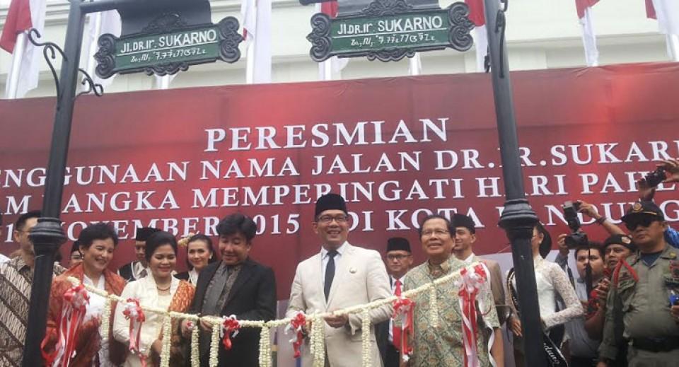 Peringati Hari Pahlawan, Jalan Cikapundung Timur Berubah Nama