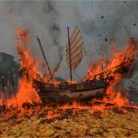 Bakar Tongkang, Persembahan Dewa Laut, dan Nenek Moyang Orang Bagan